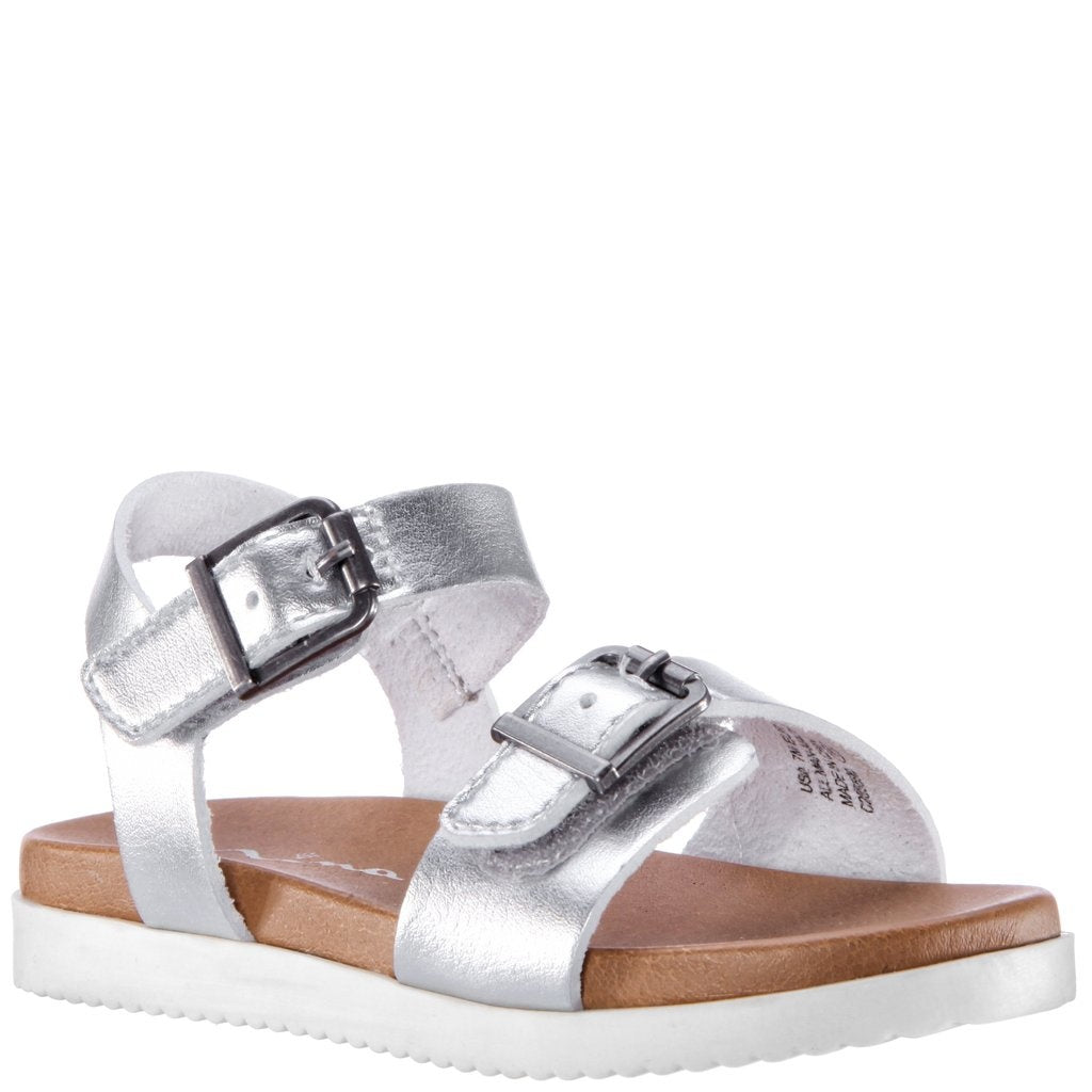 Nina Jacklin Sandal in Silver Metallic