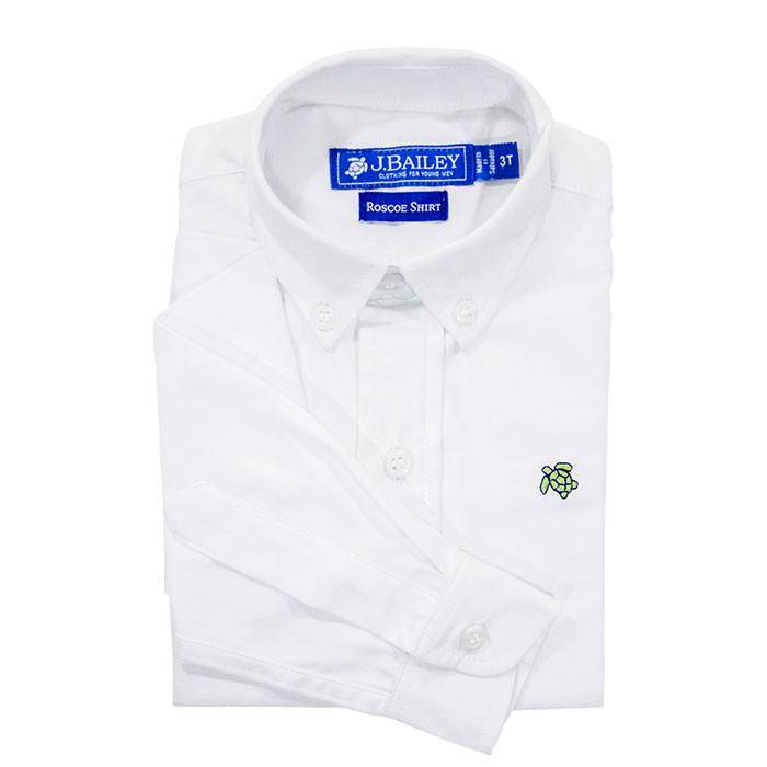 J. Bailey Roscoe White Oxford Button Down