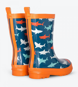 Hatley Great White Sharks Shiny Rain Boots