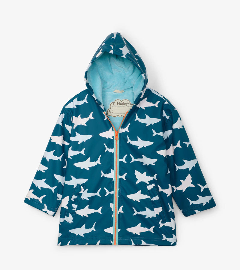 Hatley Great White Sharks Splash Jacket