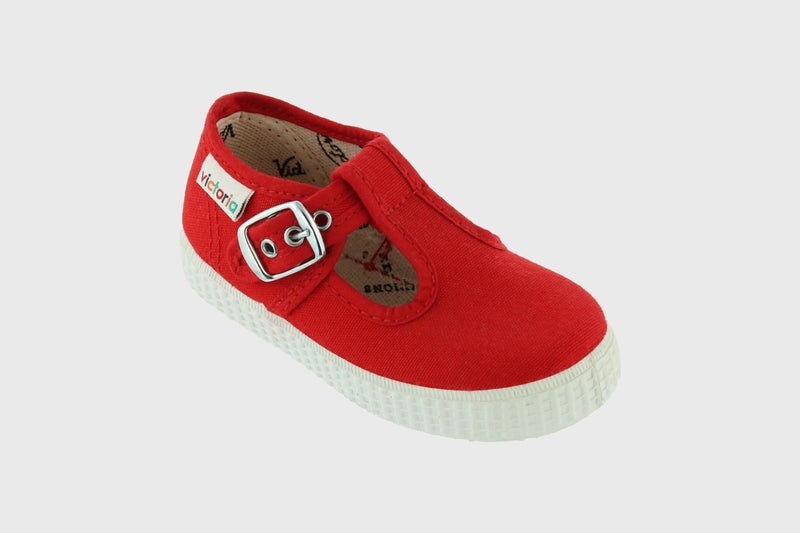 Victoria Kids Red T-Strap Buckle