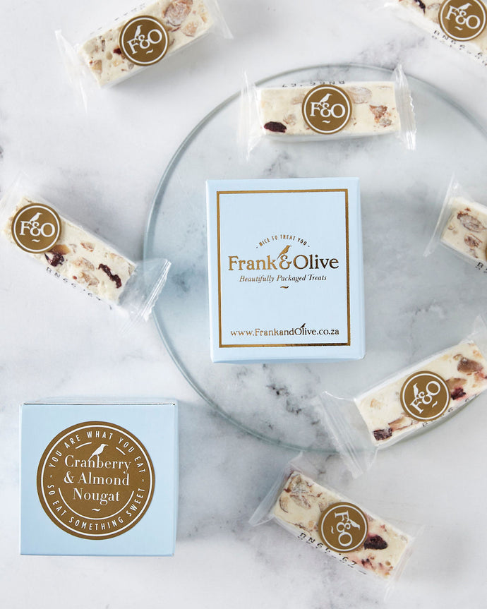 Cranberry & Almond Nougat Mini Box