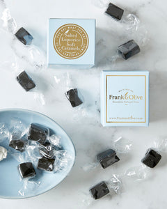 Salted Liquorice Soft Caramels Mini Box