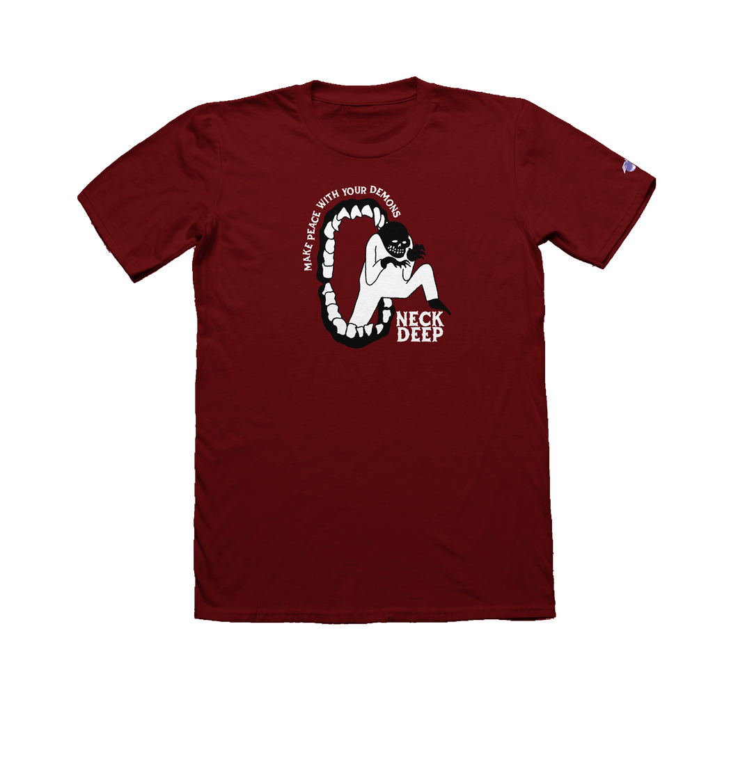 Peace Demons Maroon T-Shirt