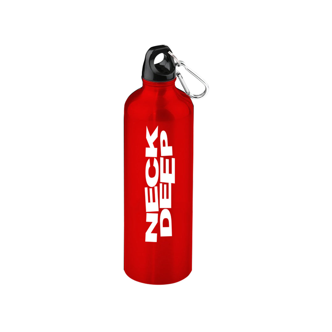 Logo Red Water Bottle