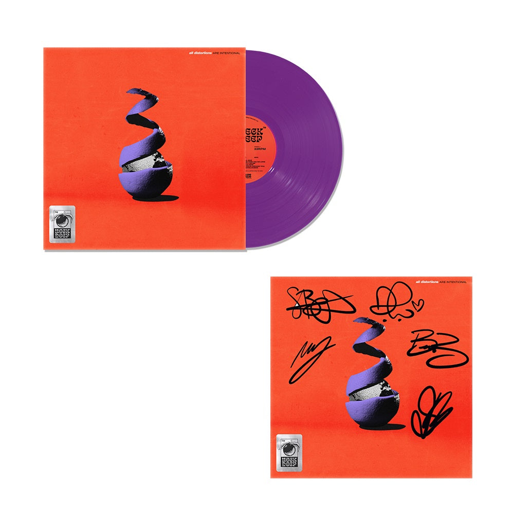All Distortions Are Intentional Standard Purple Signed