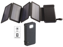 Laden Sie das Bild in den Galerie-Viewer, Solar-Powerbank, faltbares Solarpanel, LED-Lampe, 8.000 mAh, 2,1 A, 5W