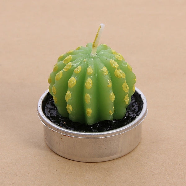 Succulent lifelike cactus candle [1pc]