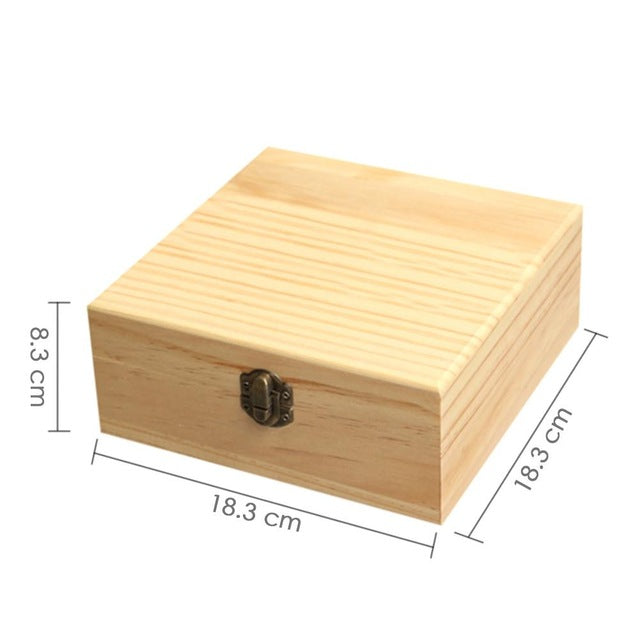 25 slots wooden essential oils storage box