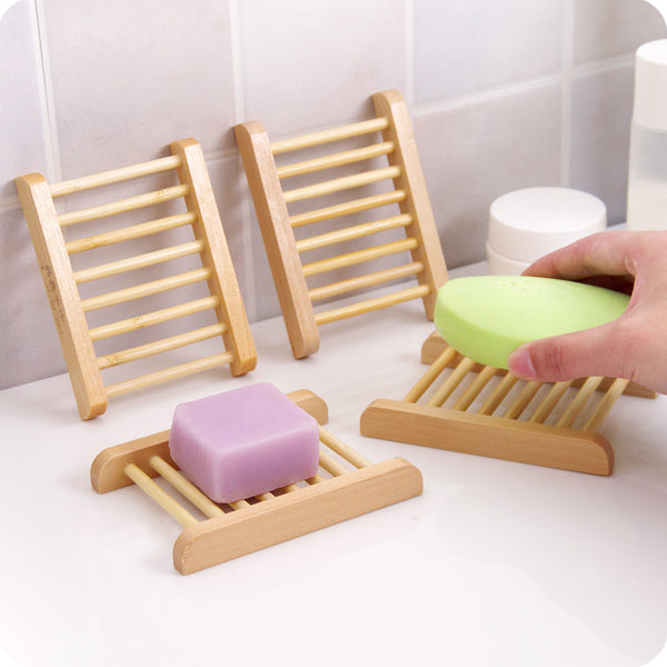 Wooden Bamboo Soap storage rack