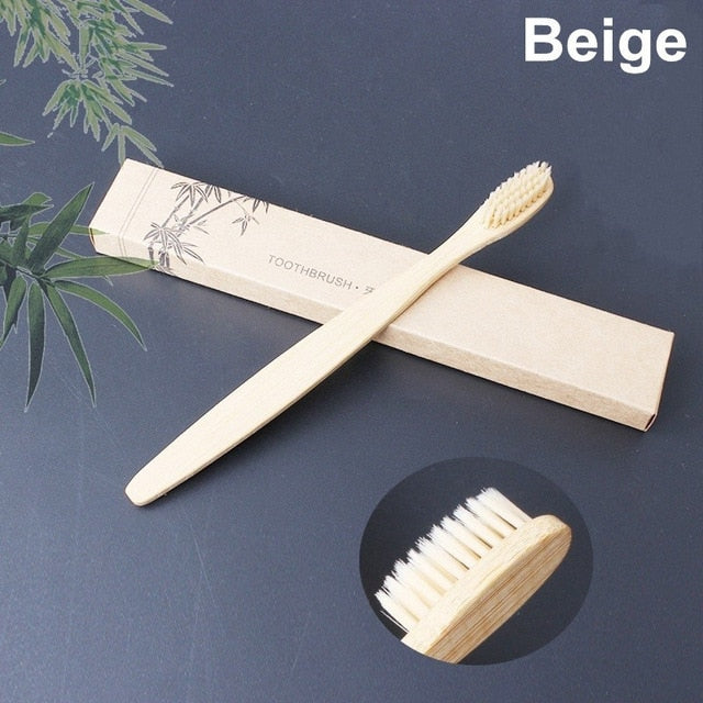 Toothbrush with natural bamboo handle [1pc]
