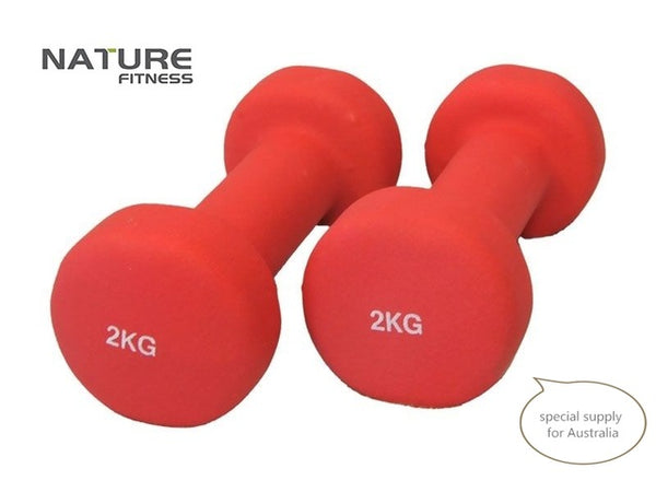 Pair of neoprene dumbbells