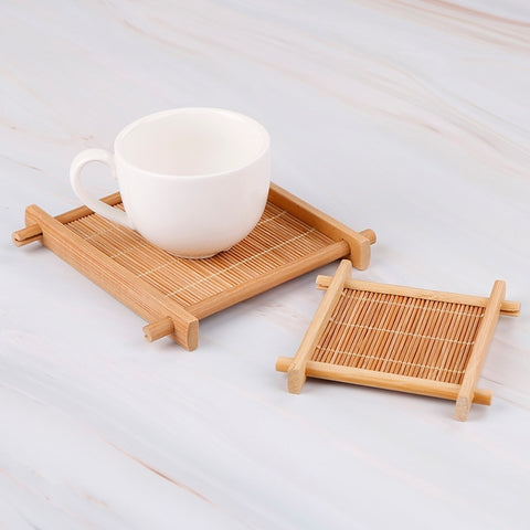 Bamboo heat insulation tray [1pc]
