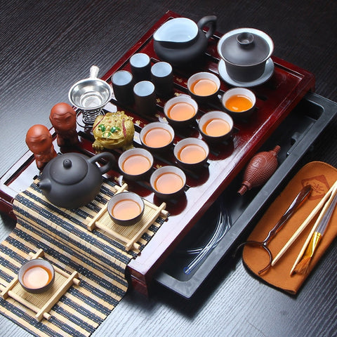 Ceramic Kung Fu tea set [27pcs]