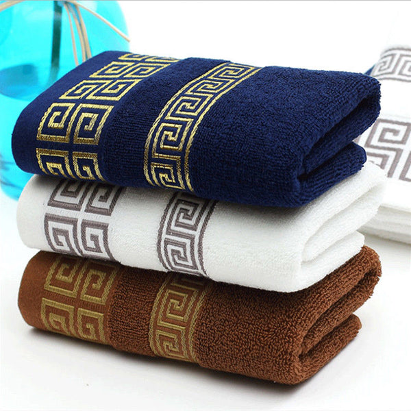 Soft cotton bath and beach towels