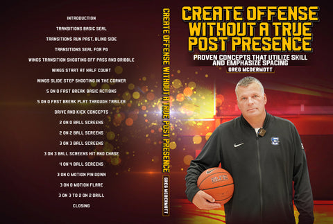 Create Offense Without a True Post Presence by Greg McDermott