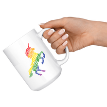 Load image into Gallery viewer, Unicorn White 15oz Mug