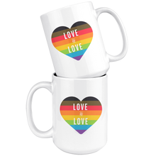 Load image into Gallery viewer, Love is Love White 15oz Mug