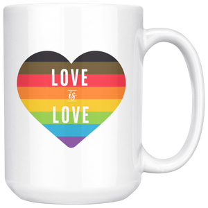 Love is Love White 15oz Mug