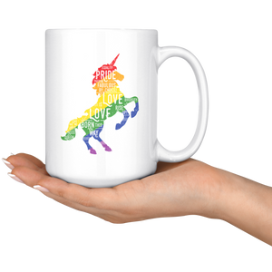 Unicorn White 15oz Mug