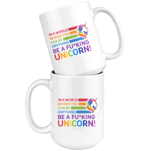 Load image into Gallery viewer, Be A Fu*king Unicorn White 15oz Mug