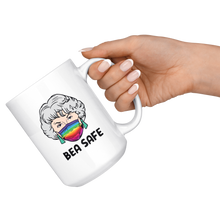 Load image into Gallery viewer, Be Safe White 15oz Mug
