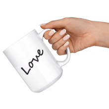 Load image into Gallery viewer, Love White 15 oz Mug
