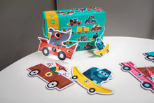 Load image into Gallery viewer, Djeco Racing Car Duo Puzzle