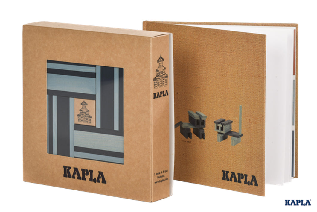 KAPLA Book & Colours Set - Blue + Art Book