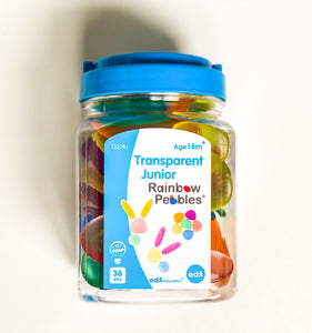 Junior Transparent Rainbow Pebbles