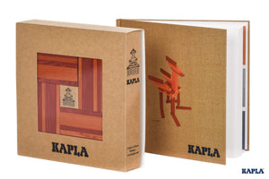 KAPLA Book & Colours Set - Red and Orange + Art Book