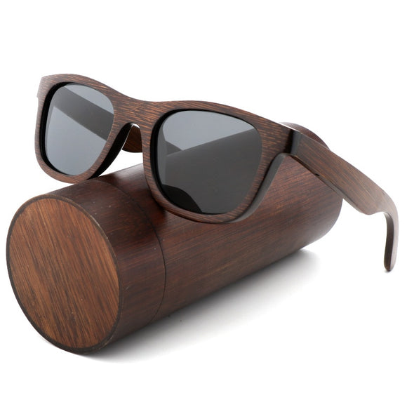Handmade luxury Polarised Zebra Vintage Bamboo Wood Sunglasses With Glasses Case Box - sunglasses depo