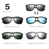 Unisex Retro Aluminum+TR90 Square Polarised Sunglasses - sunglasses depo