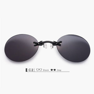 Matrix Morpheus Round Rimless Sunglasses - sunglasses depo