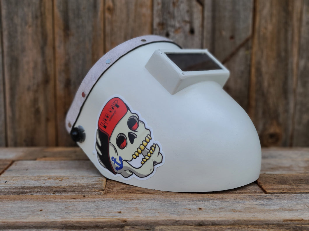 Chopped Pipeliner With Ragtop Bandana (White)