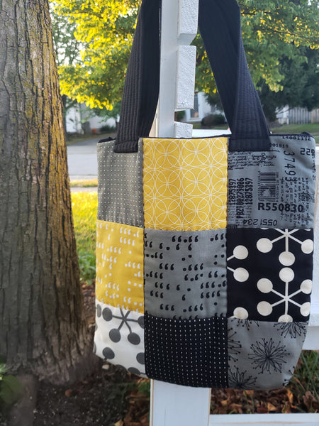 Quilted book bag