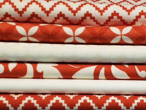 Valentine Red & White Half Yard Bundle