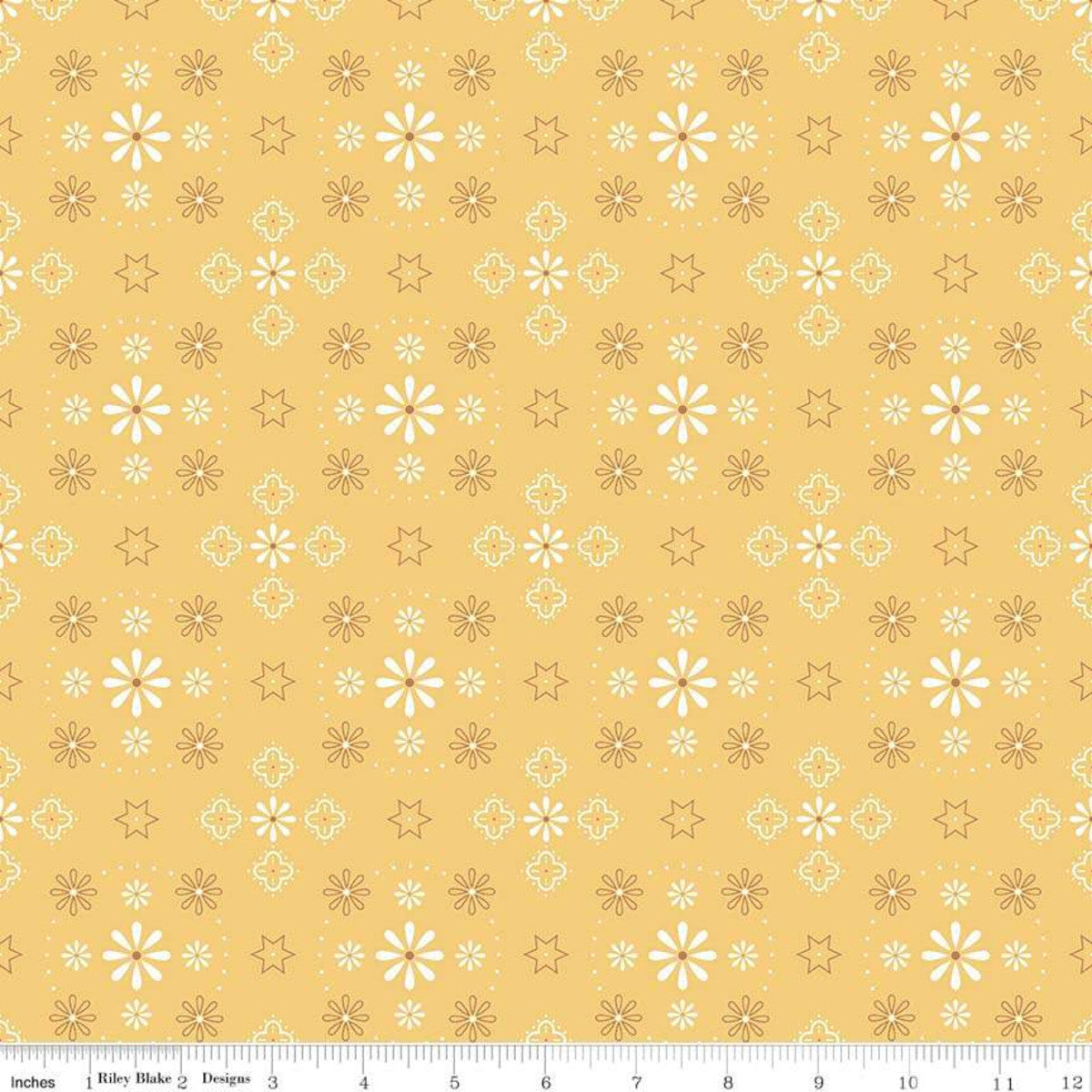 "Bee Backings & Borders Bandana Honey 108"" Wide"