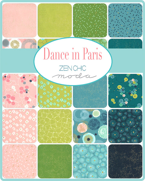 Dance In Paris Metallic Layer Cake by Zen Chic for Moda
