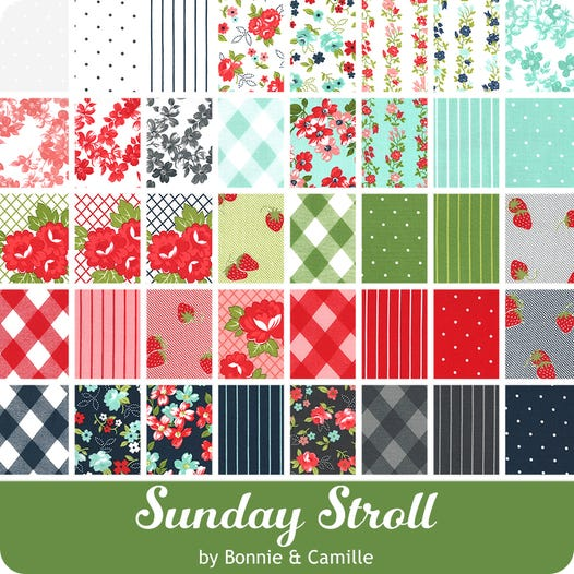 Sunday Stroll Mini Charm Pack by Bonnie & Camille for Moda