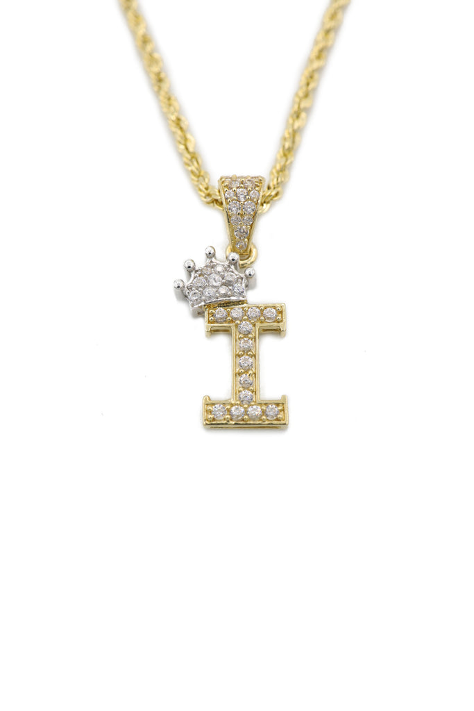 14k Rope Chain W/ Initial Pendant (I) Included  JTJ™ - Javierthejewelernyc