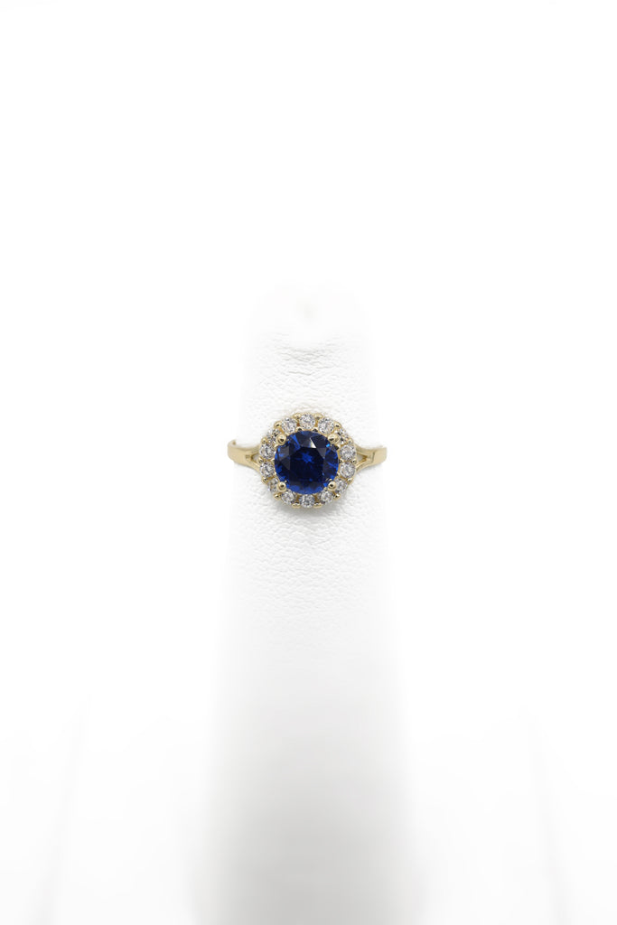 14K CZ Ring for Girls Blue (Round) - JTJ™ - Javierthejewelernyc