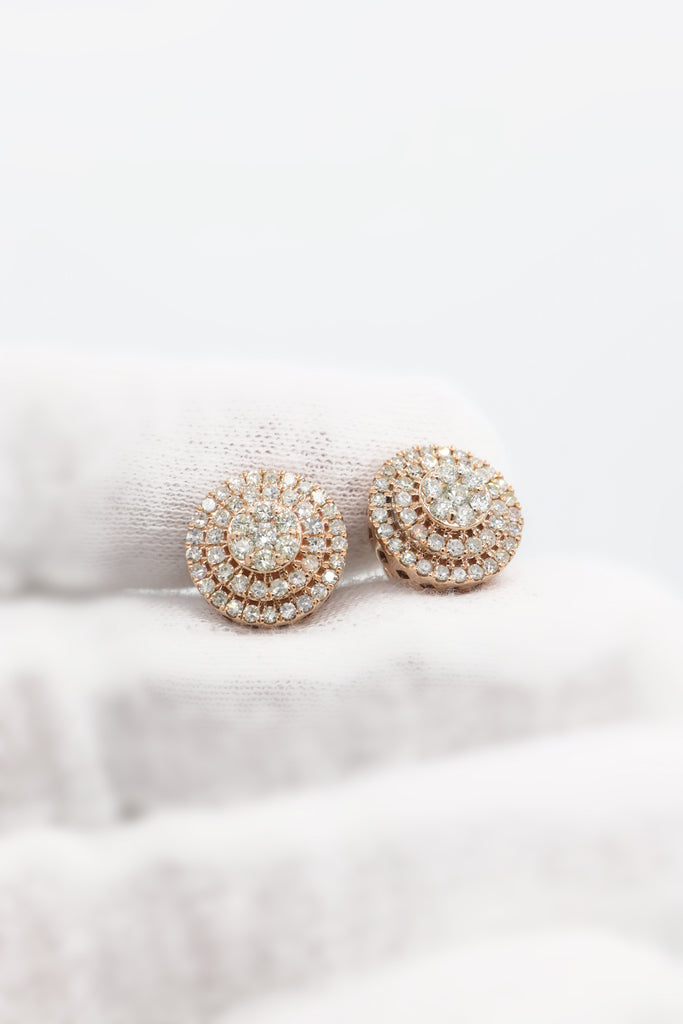 *NEW* 14K Three-Tier Round Diamond Earrings - JTJ™ - Javierthejewelernyc