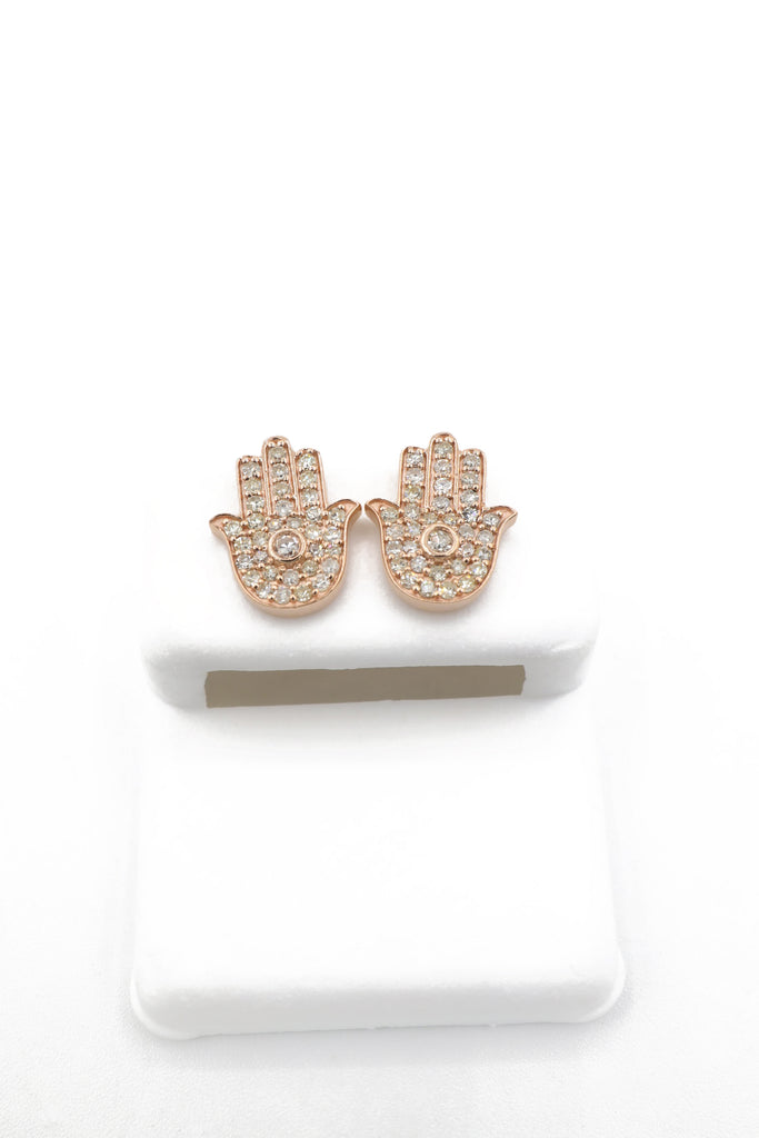 14K Hamsa Diamond Earrings (S) - JTJ™ - Javierthejewelernyc
