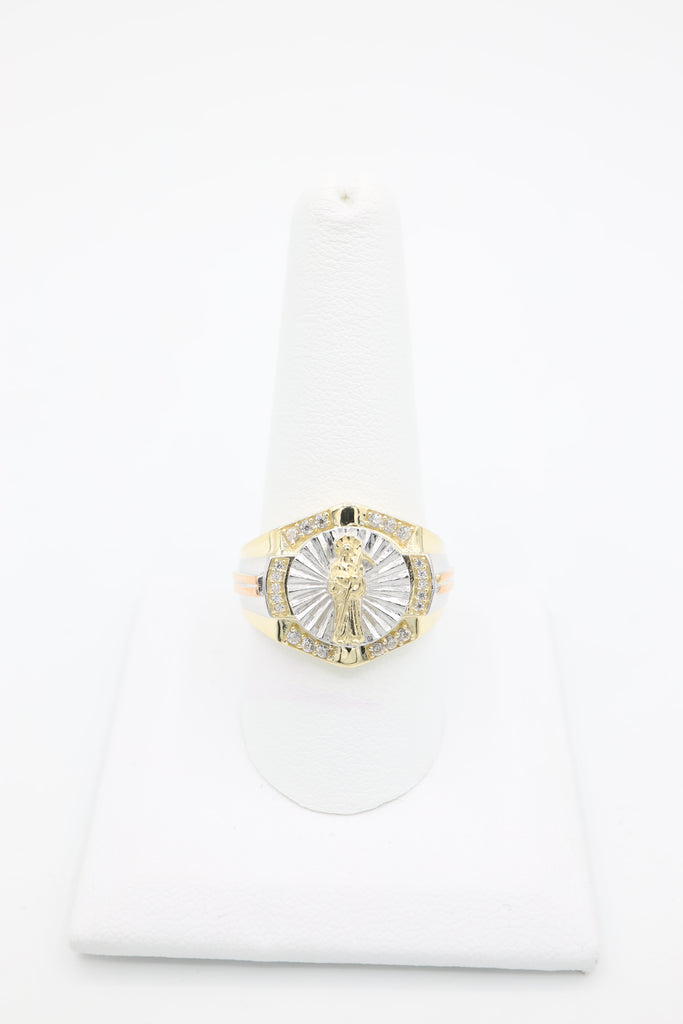 *NEW* 14K CZ Saint Men's Ring - JTJ™ - Javierthejewelernyc