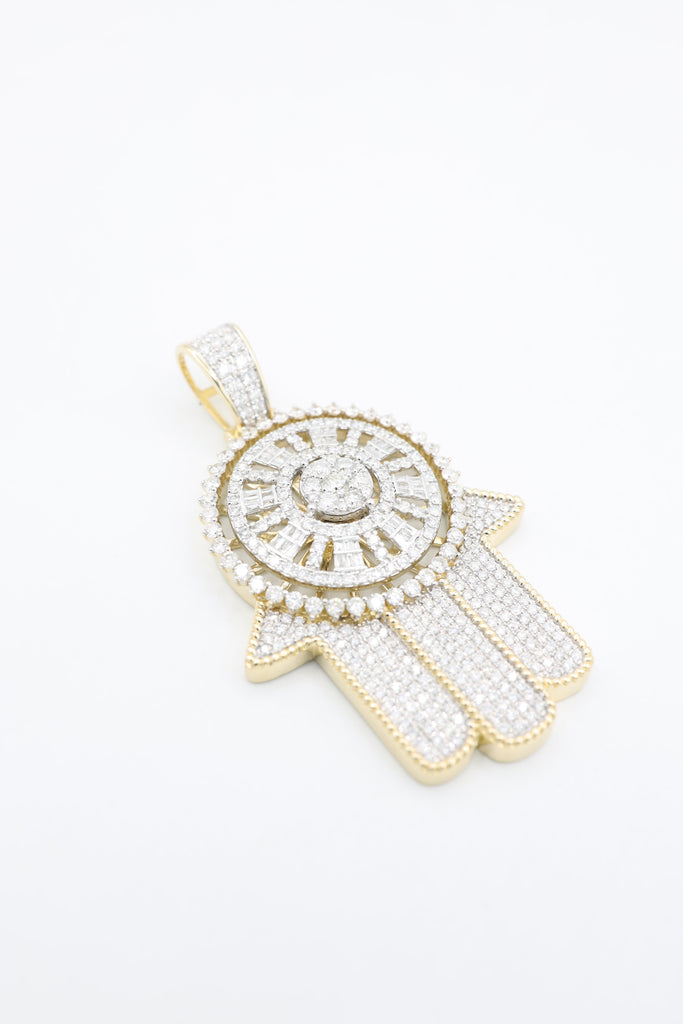 *NEW* 14K Hamsa Full Iced Pendant 💎 VVS/VS Diamonds 💎  JTJ™ - - Javierthejeweler
