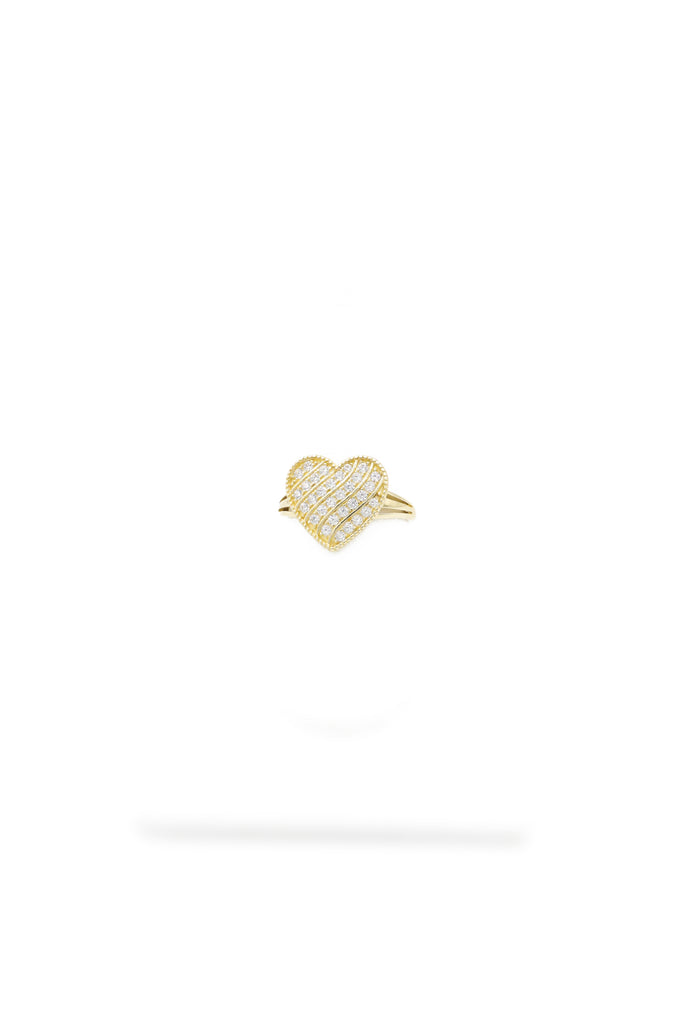 *NEW* 14K Women Stylized Heart 💛 ZC Ring  JTJ™ - Javierthejeweler