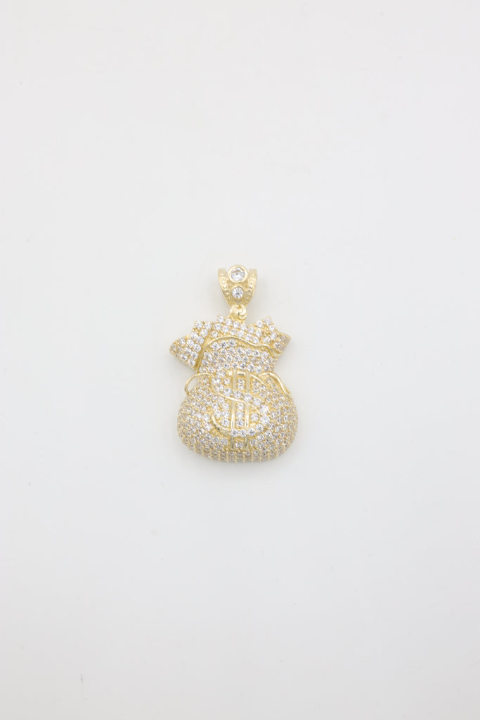 *NEW* 14K CZ Money Bag Pendant - JTJ™ - Javierthejeweler