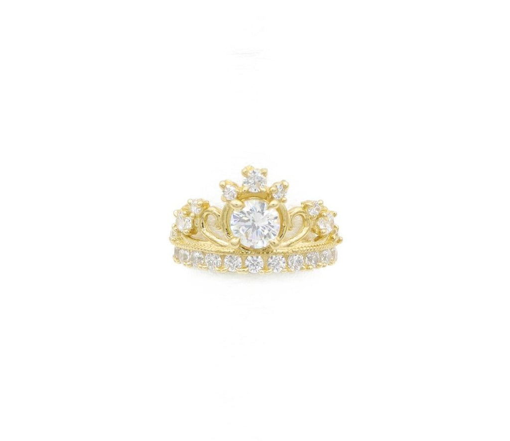 *NEW* 14K Women Tiara Crown CZ Ring -JTJ™ - Javierthejeweler