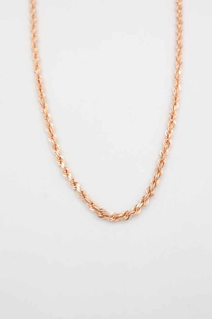 *NEW* 14K Solid Rose Gold Rope Chain - JTJ™ - Javierthejeweler